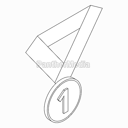 medal icon isometric 3d style