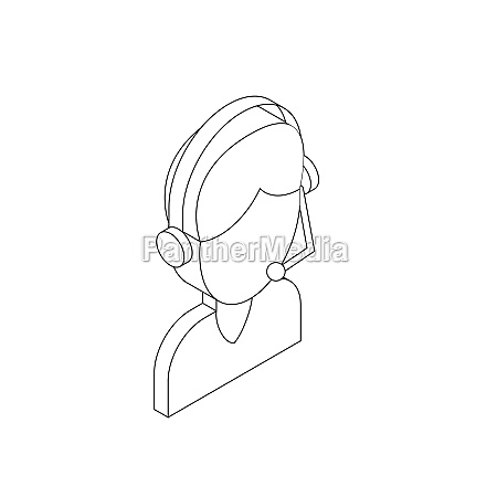 male customer support operator with headset