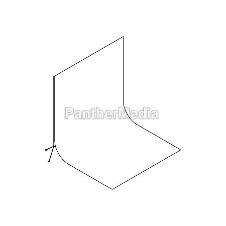 white studio backdrop icon isometric 3d