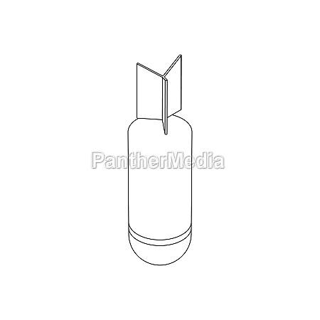 rocket bomb icon isometric 3d style