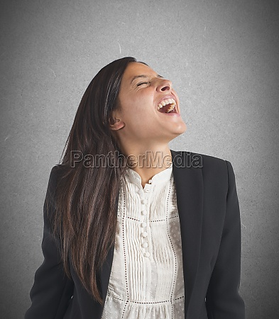 crazy businesswoman screams