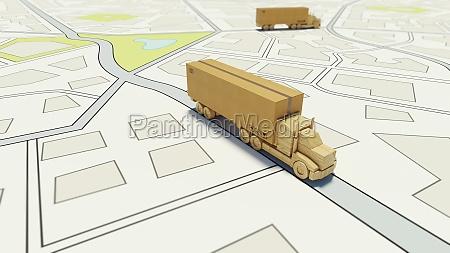 big cardboard box package on a