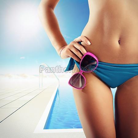 bikini resort pool