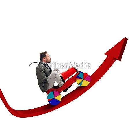 driving uphill arrow