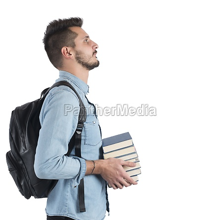 student studying to achieve objectives