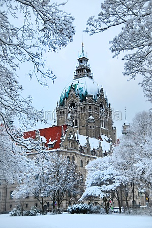 hannover in the winter with new