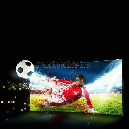 realism of sporting images broadcast on