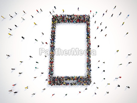 many people together in a smart