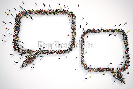 many people together form bubbles text
