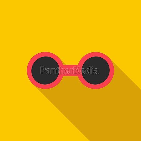 sunglasses icon flat style