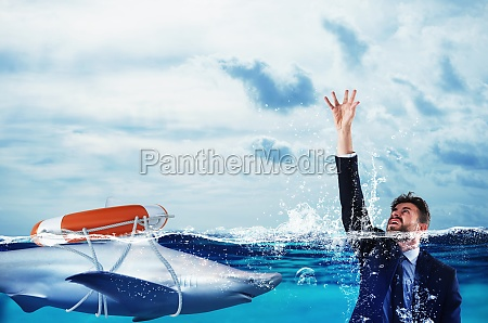 businessman is likely to drown help