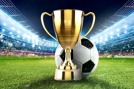 golden winner s cup in the