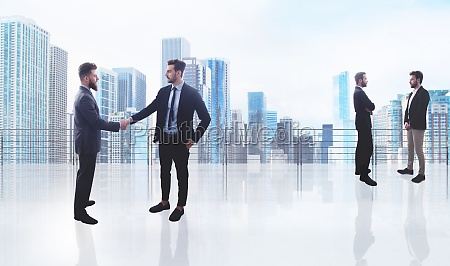 business handshake concept of teamwork and