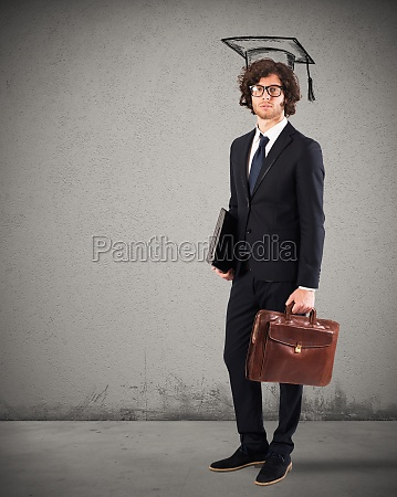 man graduate ready to work
