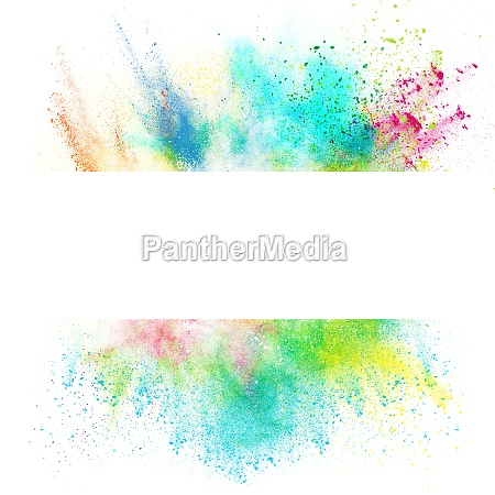 fresh banner with colorful splash effect