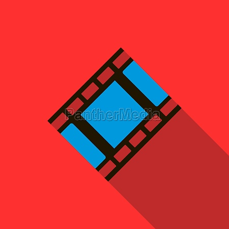 film strip icon in flat style