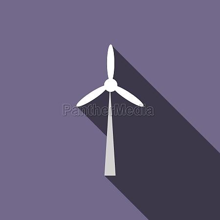 wind turbine icon flat style
