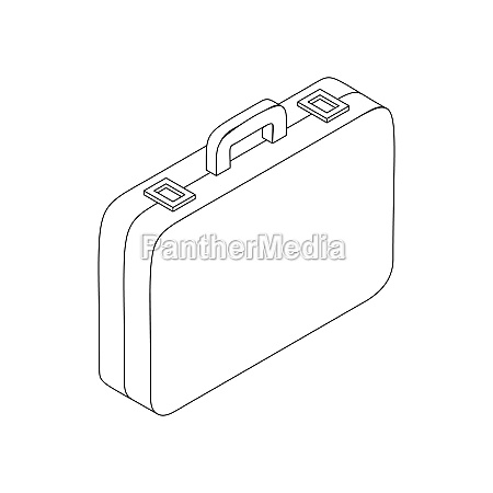 suitcase icon in isometric 3d style