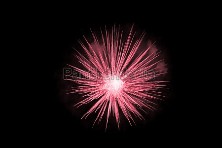 beautiful red big bang science object