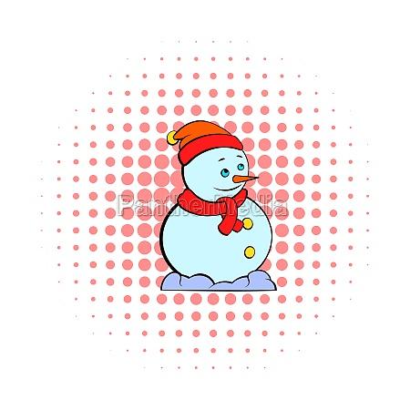 snowman icon comics style