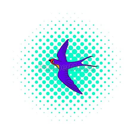 swallow icon comics style