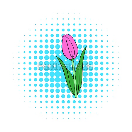 tulip icon comics style