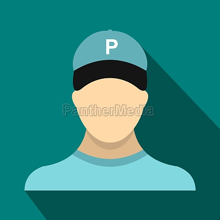 parking attendant icon in flat style