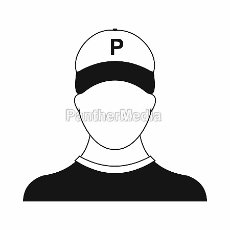 parking attendant icon simple style
