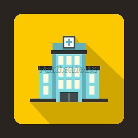 hospital icon flat style
