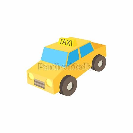 taxi car icon cartoon style