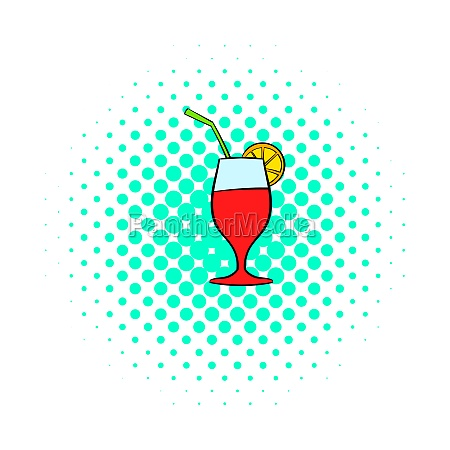 cocktail icon comics style