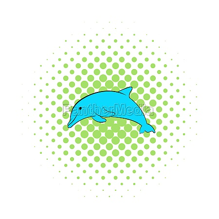 dolphin icon comics style