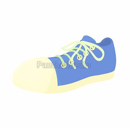 blue sneaker icon cartoon style