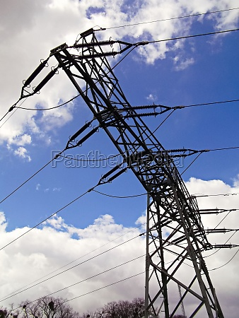 overhead line mast for carrying electricity
