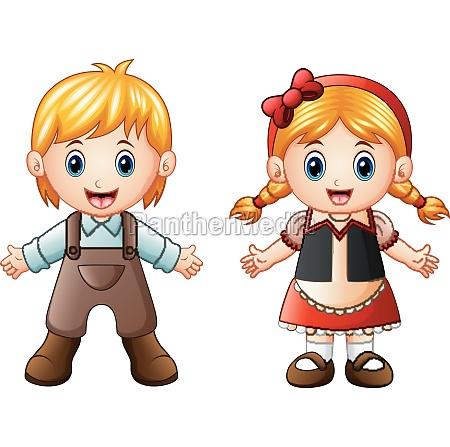 vector illustration of children story hansel