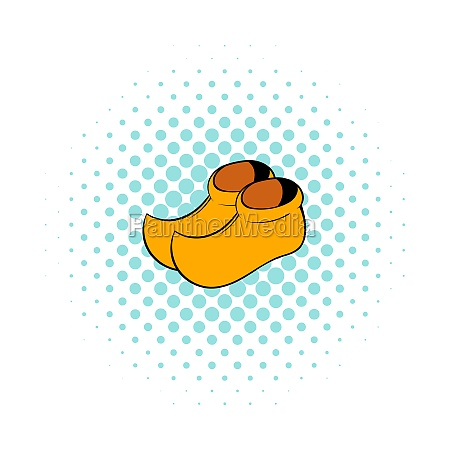 wooden shoes icon comics style