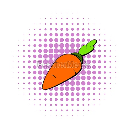 carrot icon in comics style