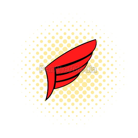 wing icon pop art style