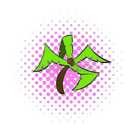 palm tree icon pop art style