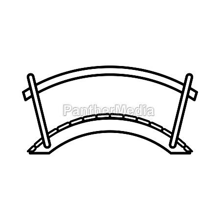 bridge icon outline style