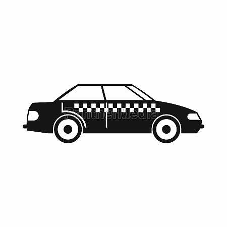 taxi icon simple style
