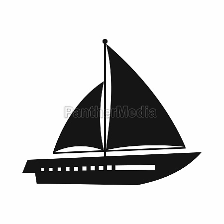 sailing yacht icon simple style