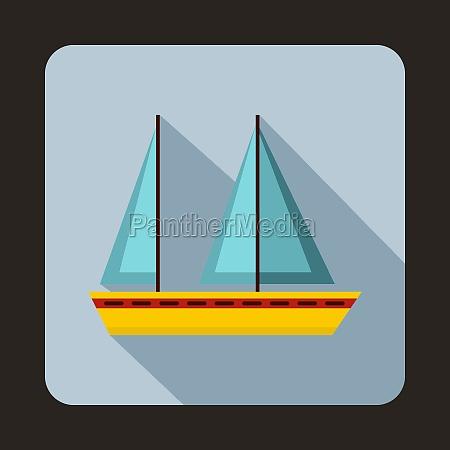 sailing, boat, icon, , flat, style - 29851808