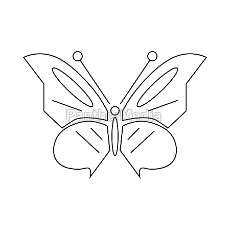 butterfly icon outline style