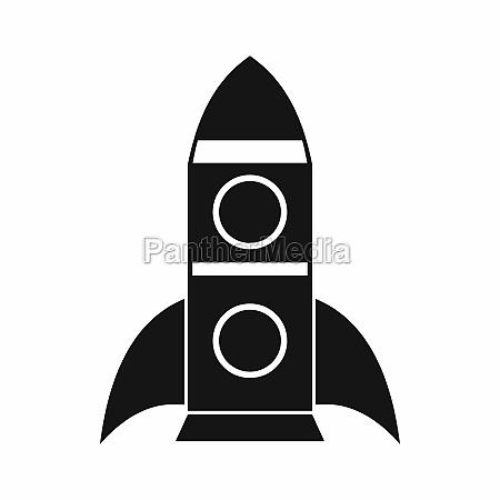 rocket icon simple style