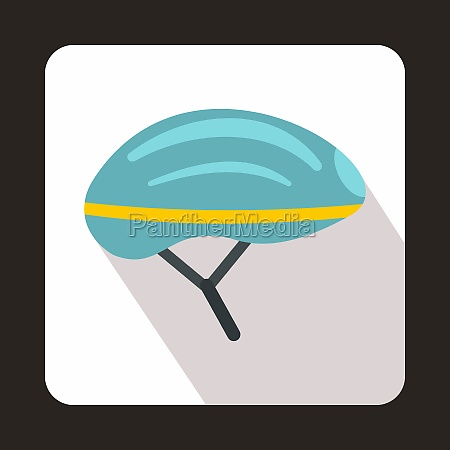 bicycle helmet icon flat style