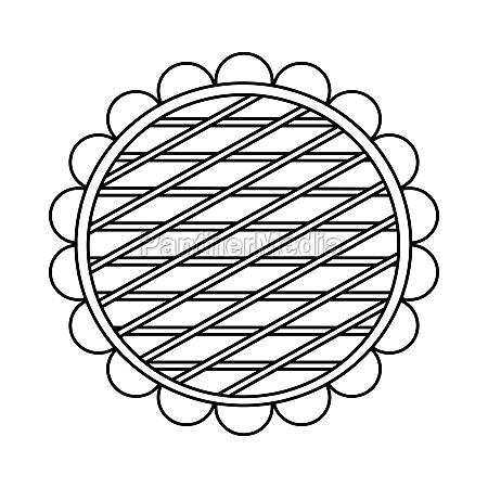 berry pie icon outline style