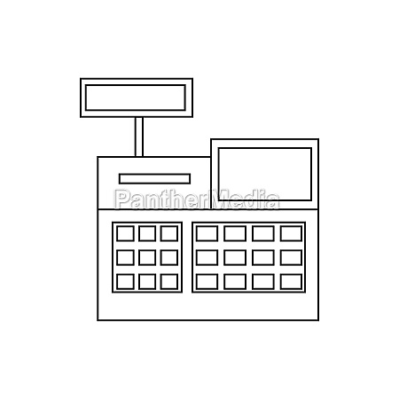 sale cash register icon outline style
