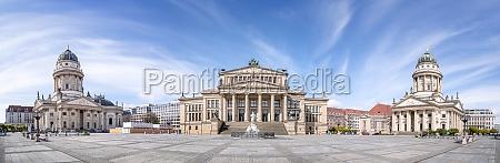 panoramic view at the gendarmenmarkt berlin