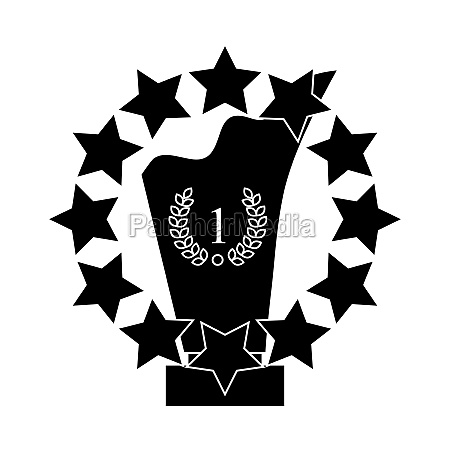 best award sign icon black simple
